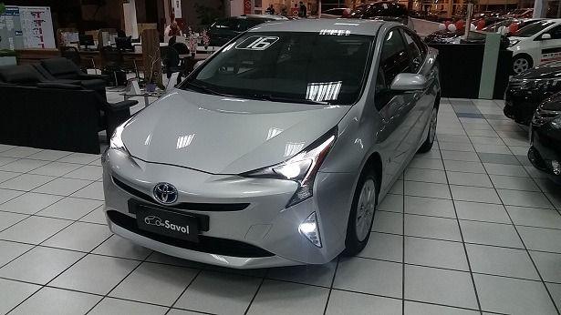 Toyota Prius Híbrido 1.8 VVT-i 16V DOHC Prata 2016}