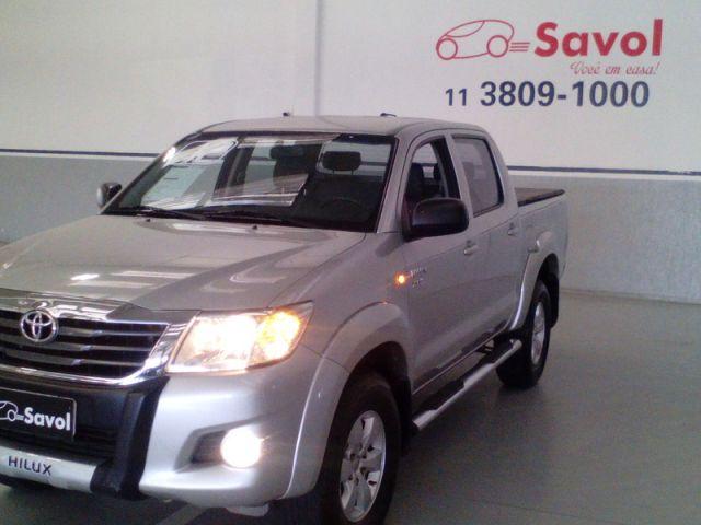 Toyota Hilux SR 4X2 Cabine Dupla 2.7 16V VVT-i Flex Prata 2012}