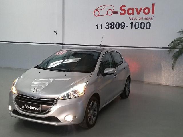 Peugeot 208 Griffe 1.6 16V Flex Prata 2014}