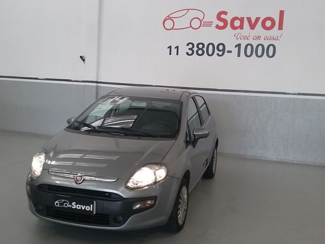Fiat Punto Attractive 1.4 Flex Cinza 2014}