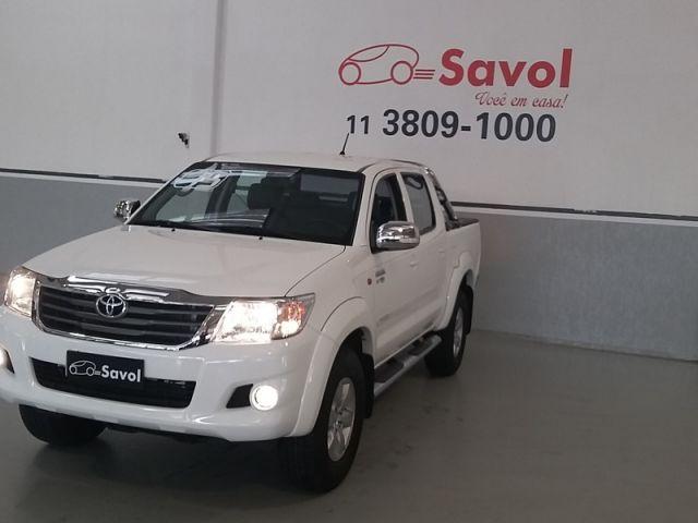 Toyota Hilux SR 4X2 Cabine Dupla 2.7 16V VVT-i Flex Branco 2015}