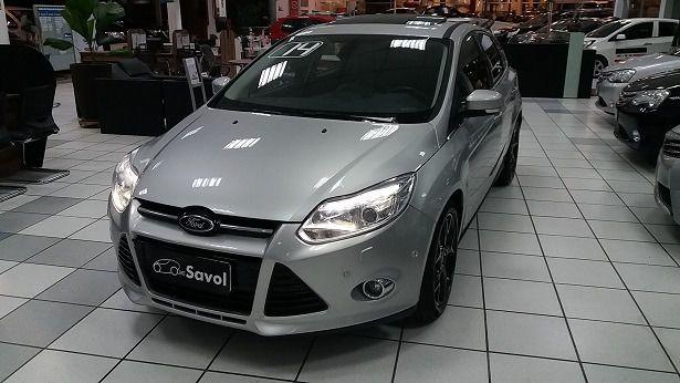 Ford Focus Titanium Plus 2.0 16V Flex Prata 2014}