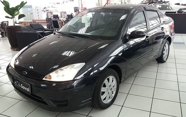 Ford Focus Sedan GLX 1.6 8V Preto 2008}
