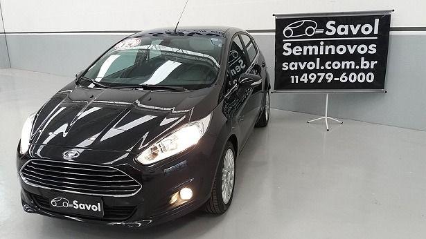Ford Fiesta Titanium 1.6 Preto 2015}