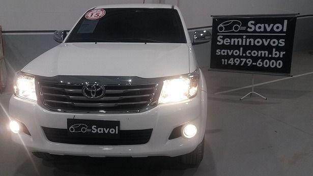 Toyota Hilux SRV 4X2 Cabine Dupla 2.7L 16V DOHC Branco 2015}