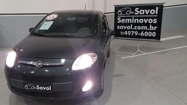 Fiat Palio Attractive 1.4 8V Flex Cinza 2013}