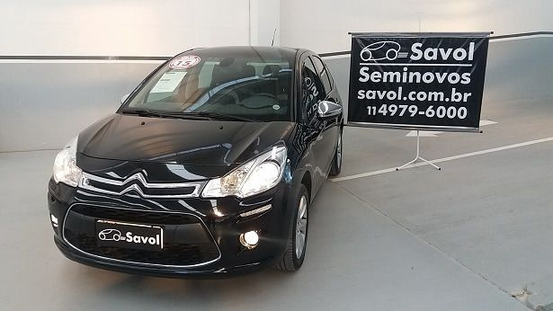 Citroën C3 Exclusive 1.5 8v Flex Preto 2015}