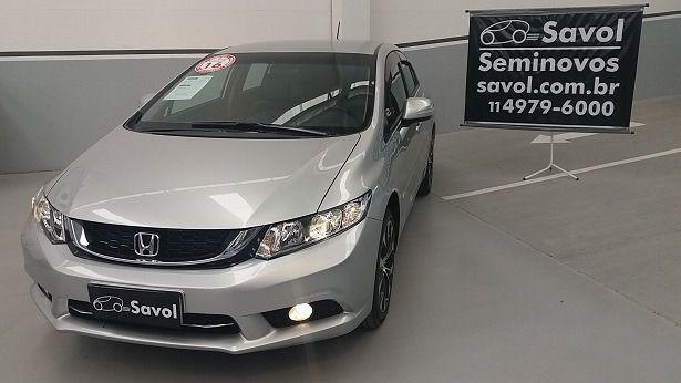 Honda Civic LXR 2.0 16V Flex Prata 2016}