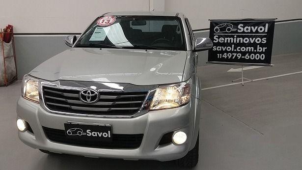 Toyota Hilux SRV 4X4 Cabine Dupla 2.7 16V VVT-i Flex Prata 2013}