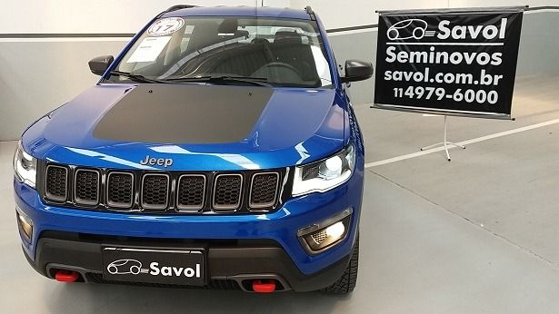 Jeep Compass Trailhalk AT9 4x4 2.0 16V Turbo Diesel Azul 2017}