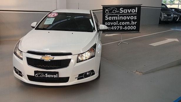 Chevrolet Cruze LT 1.8 Ecotec 16V Flex Branco 2014}