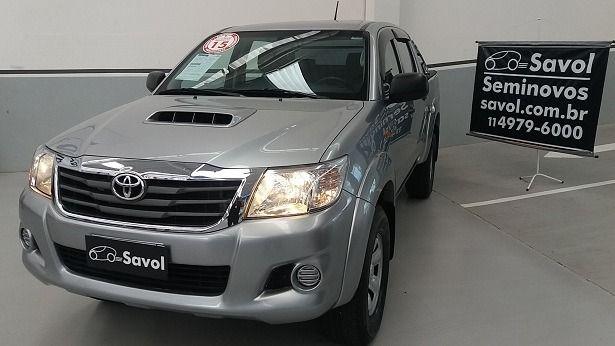 Toyota Hilux STD 4X4 Cabine Dupla 3.0 Turbo Intercooler 16V Prata 2015}