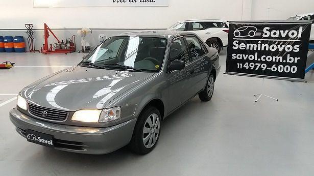 Toyota Corolla XLI 1.8 16V Cinza 2002}
