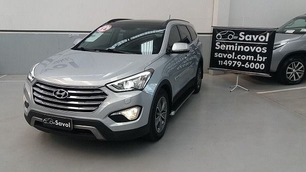 Hyundai Santa Fé 3.3 DOHC V6 24V Prata 2014}