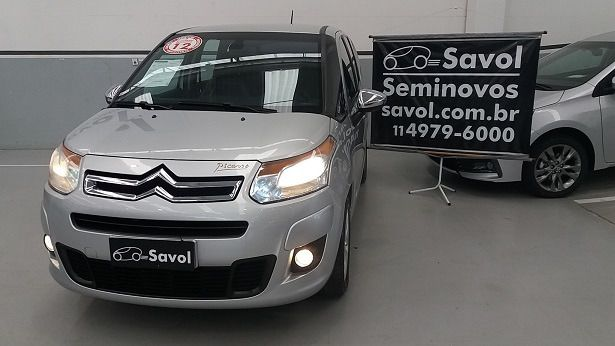 Citroën C3 Picasso Exclusive 1.6 16V Flex Prata 2012}